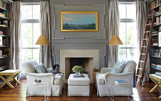 Decorating Gorgeous Gray Rooms Traditional Home - gray and beige living room