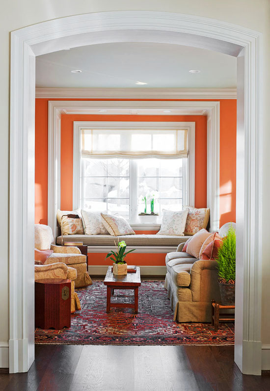Bookcase Decorating Ideas Decorating Ideas: 15 Window Seats | Traditional Home
