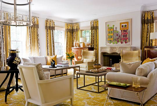 Traditional Decorating in Sunny Yellow
