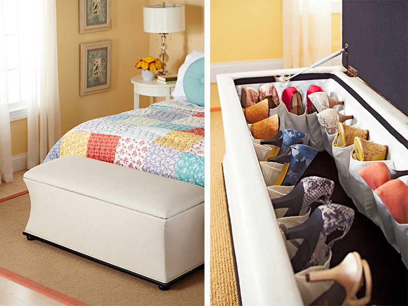 Stylish Storage Ideas for Small Bedrooms Traditional Home - small bedroom organization ideas