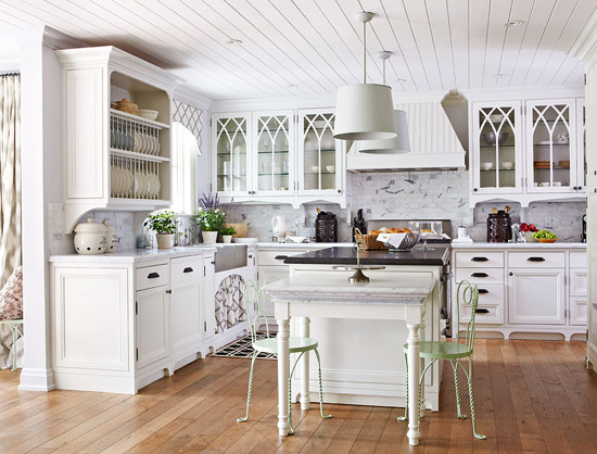 Design Ideas for White Kitchens Traditional Home - white kitchen cabinets