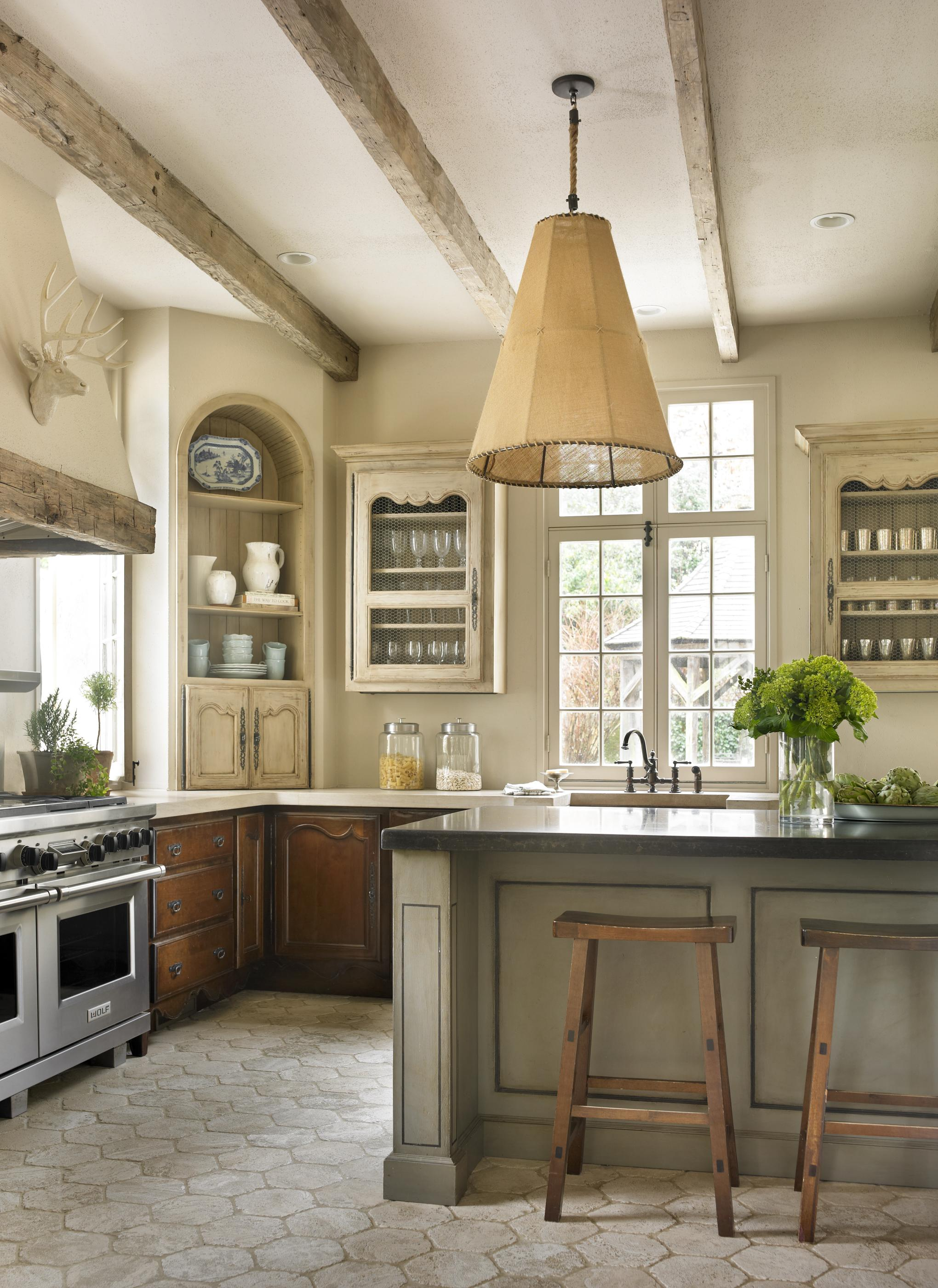 Pine Kitchen Island Unit Country French Kitchens | Traditional Home