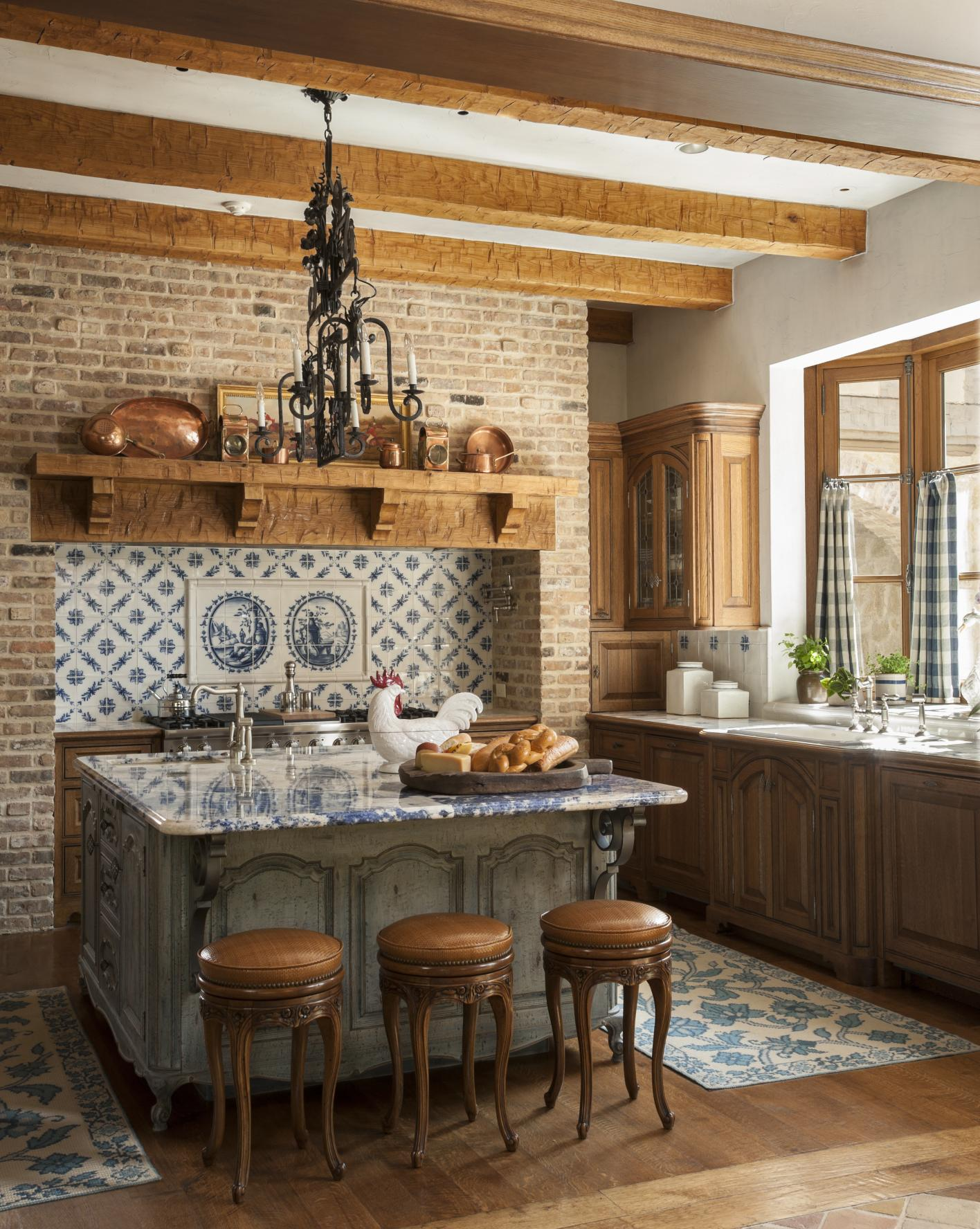 French Kitchen Pictures Country French Kitchens Traditional Home