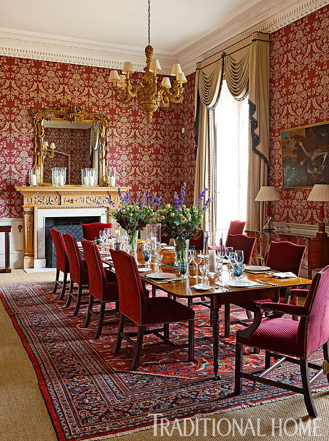 Dining Table Rug Before And After: Must-see English Manor Home