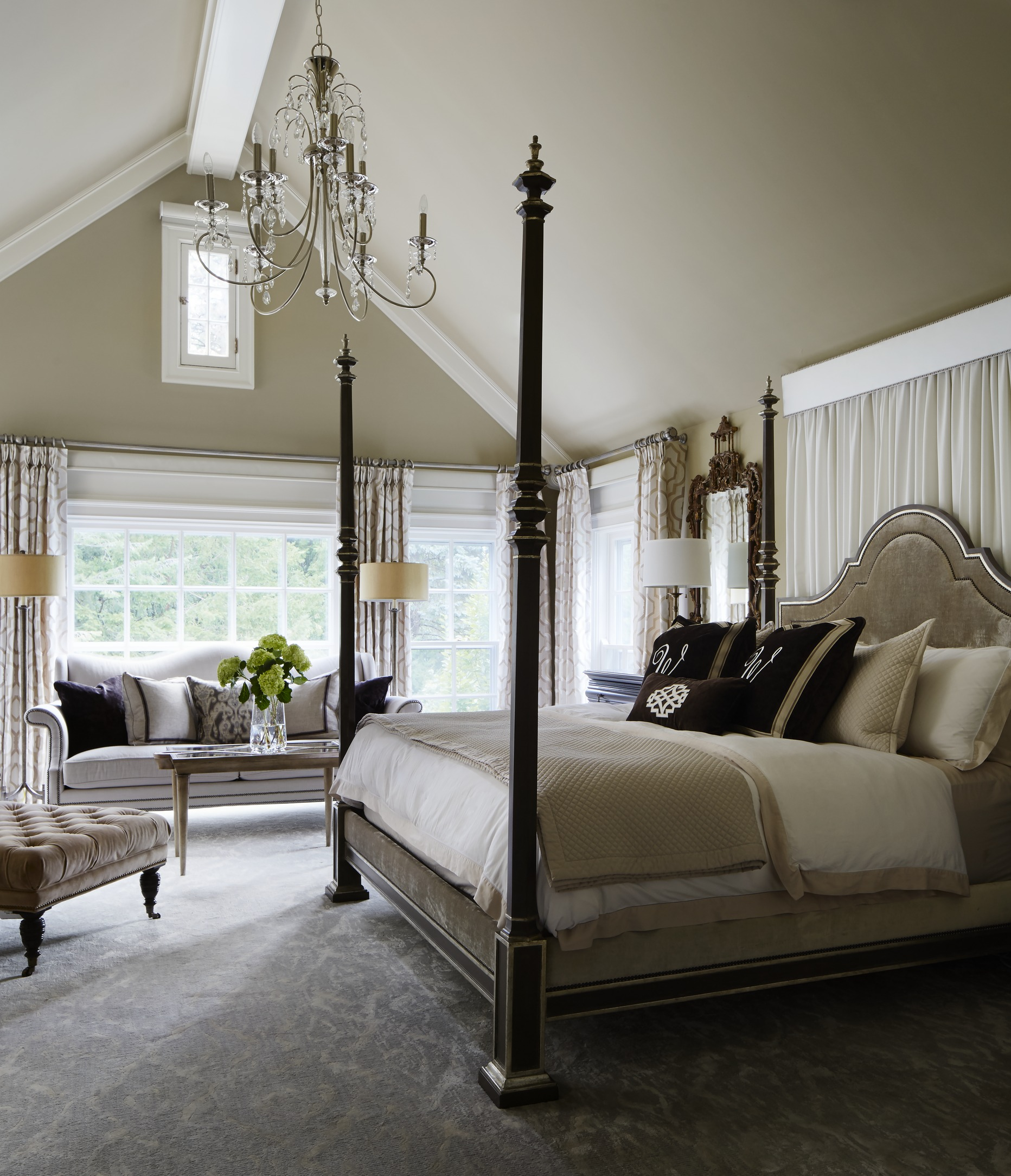 Home Design Bedroom Gorgeous Gray And White Bedrooms Traditional Home