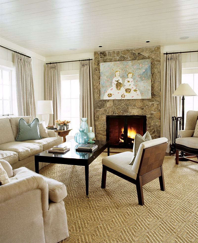 Elegant Living Rooms in Neutral Colors Traditional Home - paint schemes for living rooms