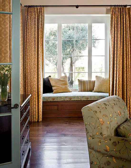 Bedroom Decorating Ideas Window Treatments Traditional Home - bedroom window ideas
