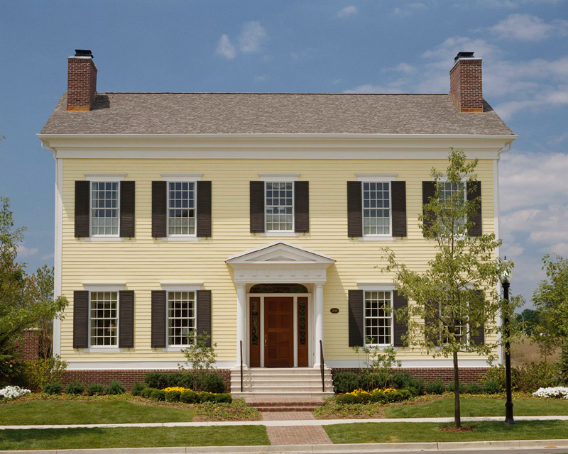 Get the Look Colonial-Style Architecture Traditional Home