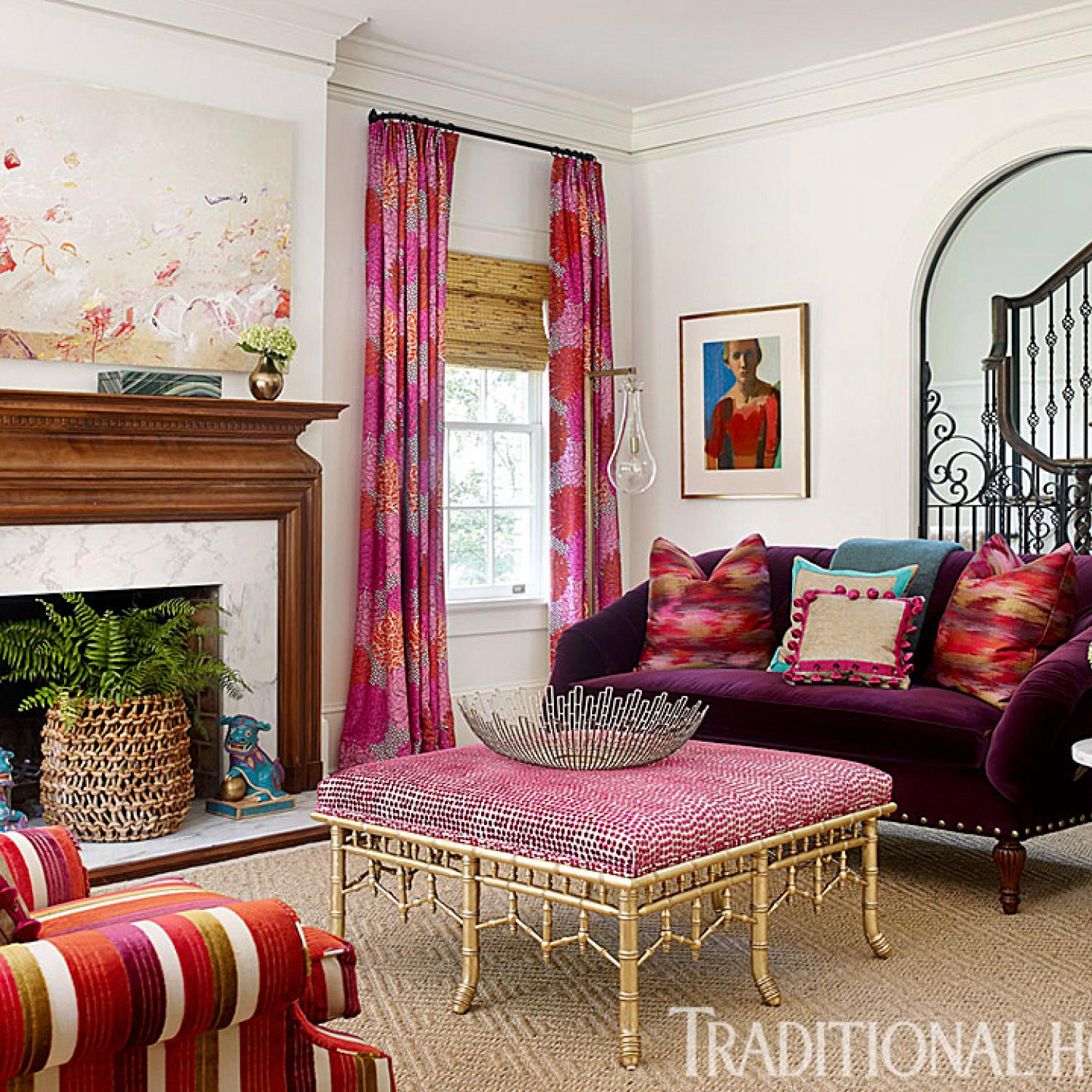 Atlanta Designers Pink In Every Room | Traditional Home