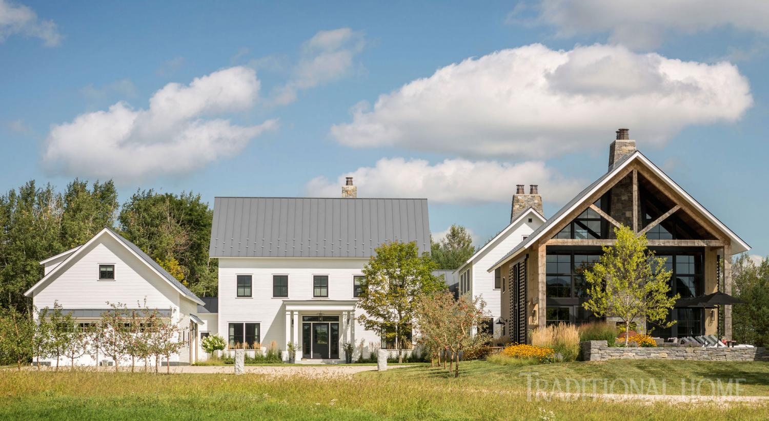 Farmhouse Threads Vermont Home With Beautiful Farmhouse Style Traditional Home
