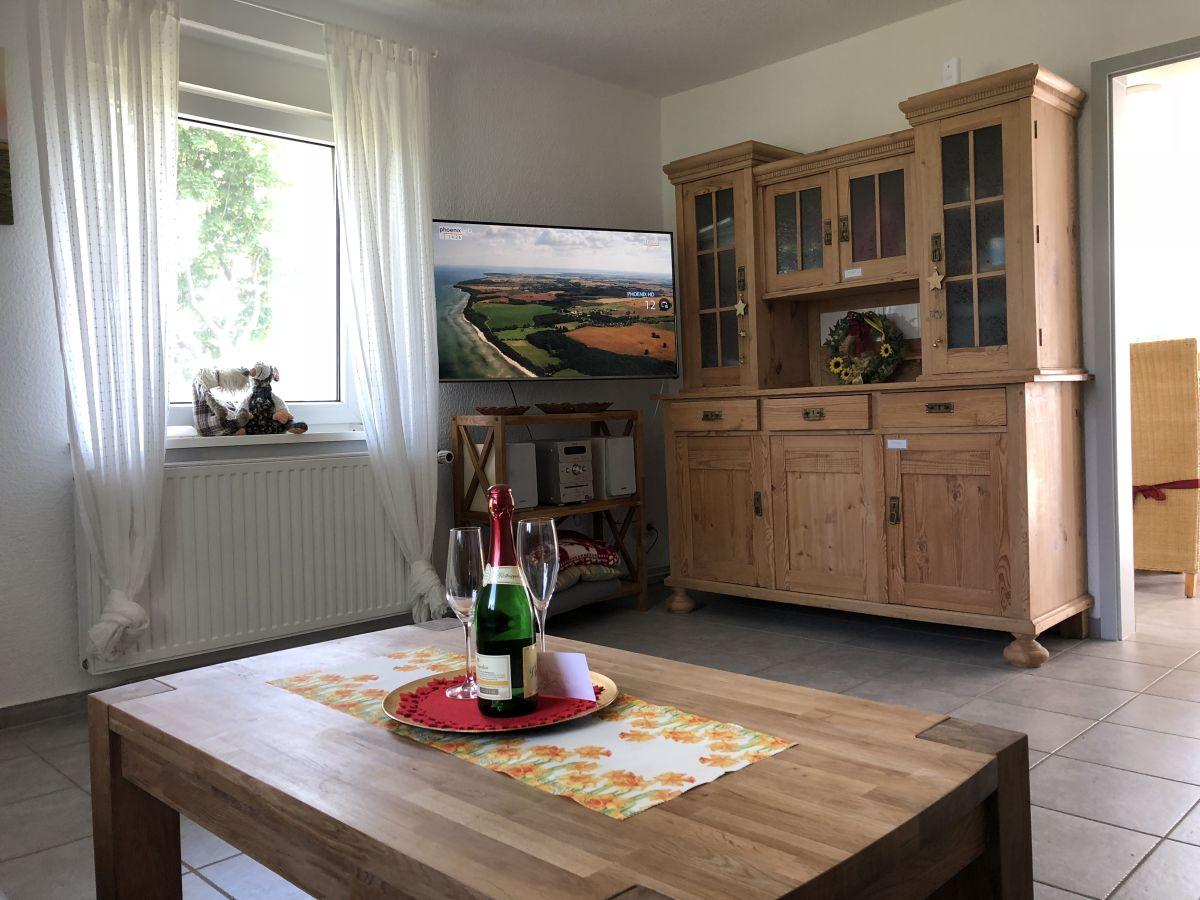 Wohnzimmer Musikanlage Ferienhaus Mühle Catharina Halbinsel Eiderstedt
