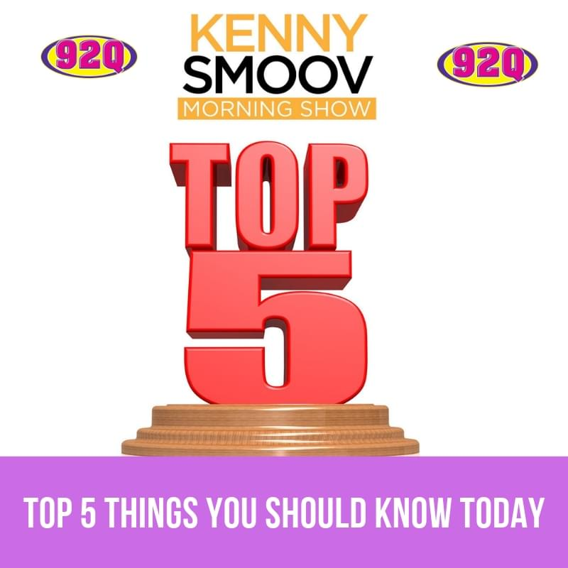 Top 5 Things You Should Know Today (12-3-18) WQQK-FM