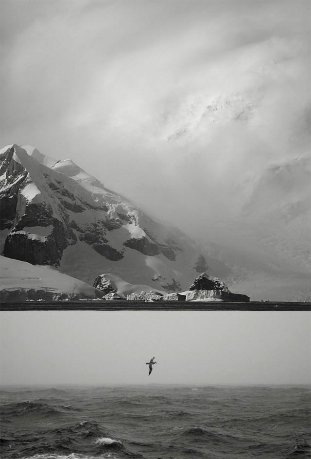 Black and White Landscapes Antarctica