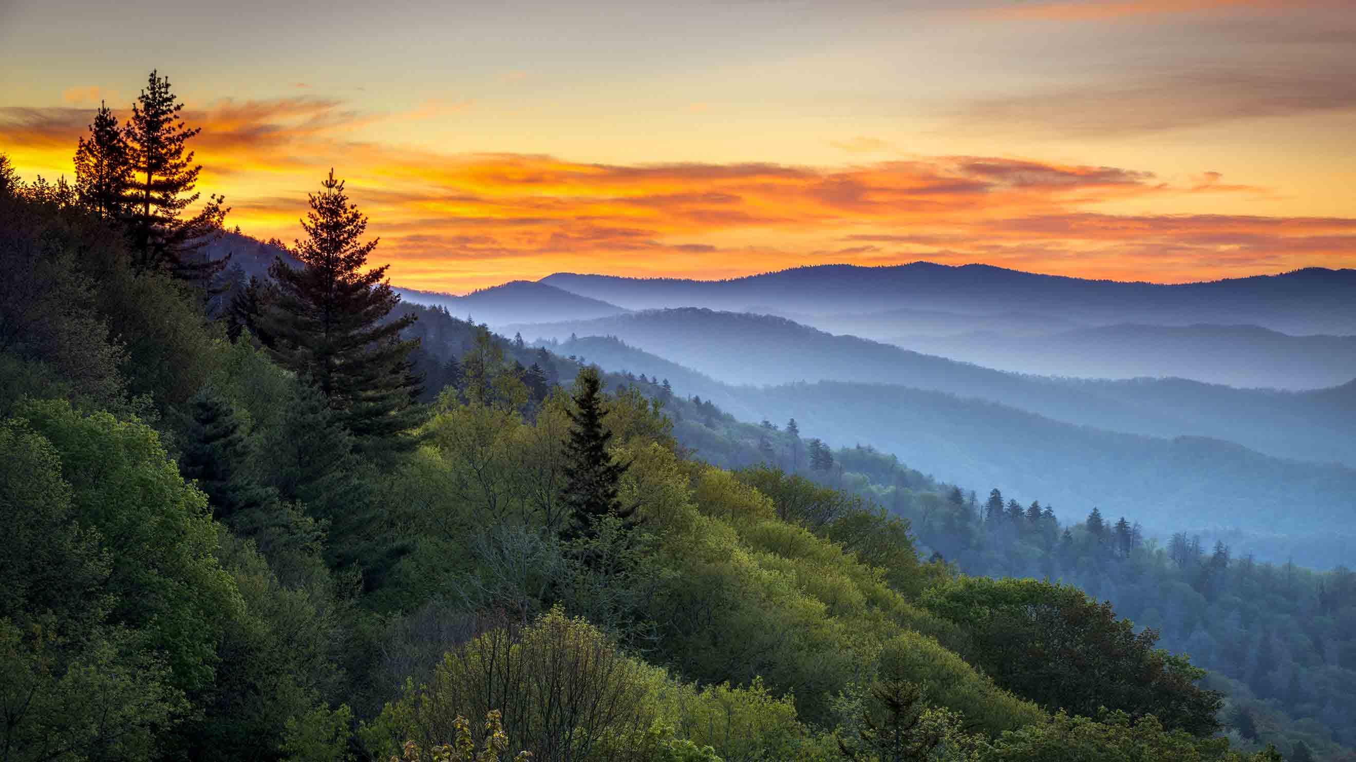 Fullsize Of Smokey Mountain Tops