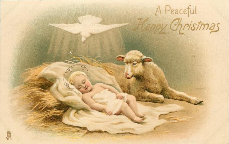 Infant Jesus Hd Wallpapers A Peaceful Happy Christmas Baby Jesus With Lamb White