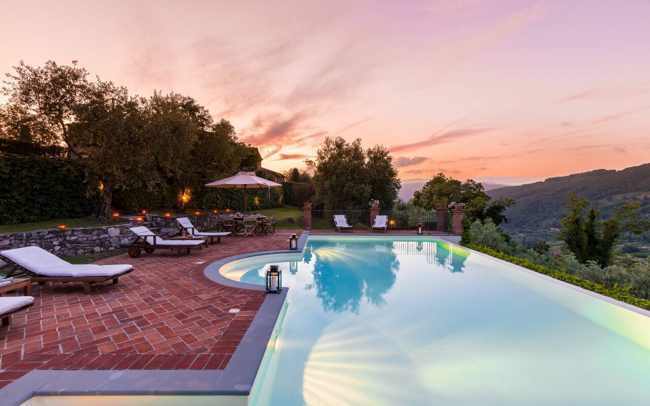 Hottub Verlichting Monsummano Terme Holiday Rental Villa Roncovisi Located Tuscany
