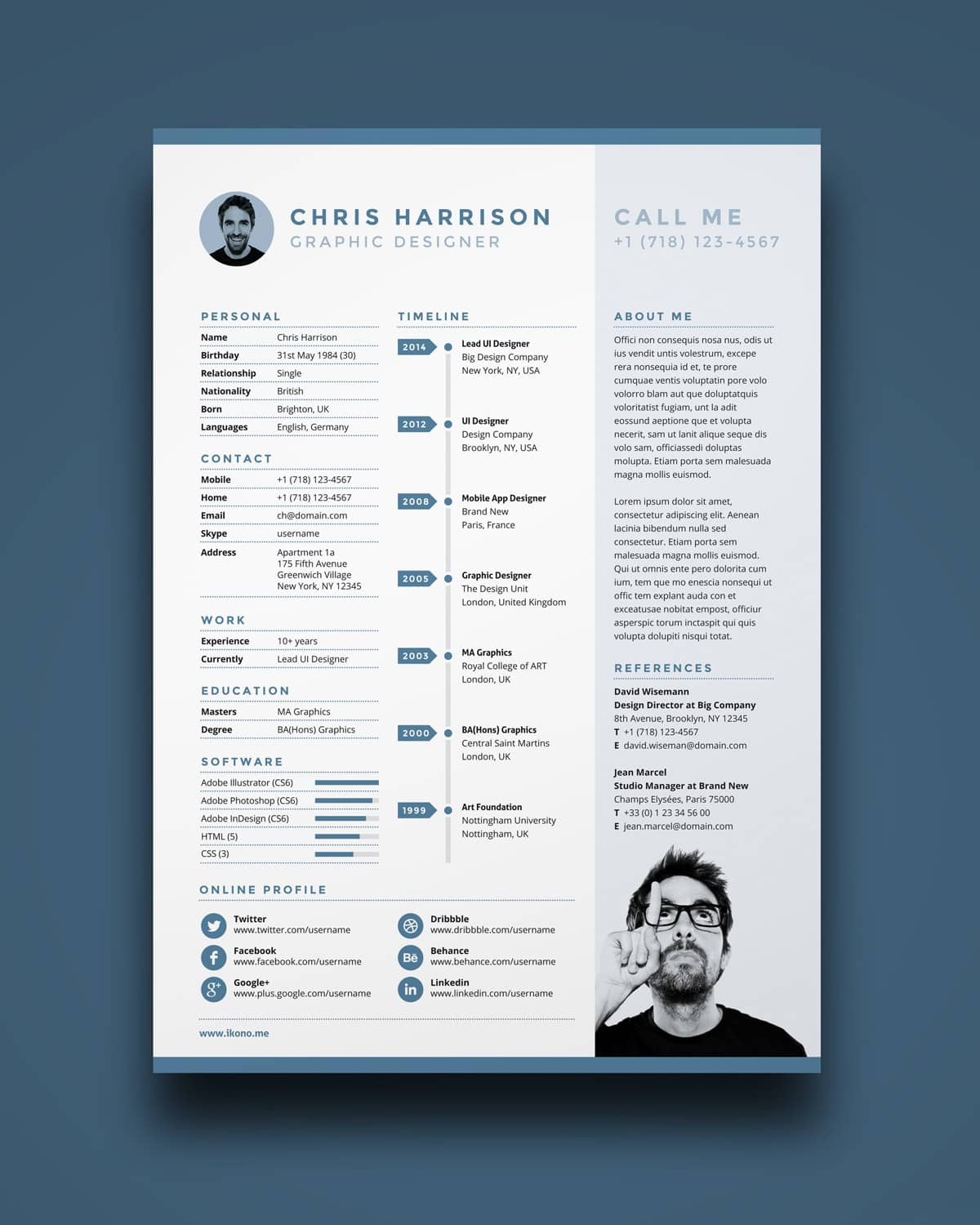 tuto cv modern adobe indesign