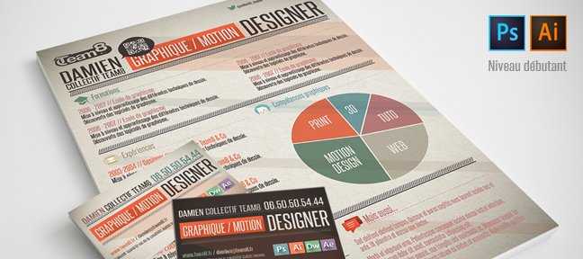creer un cv graphique sous photoshop