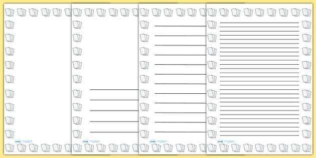 Lined Paper Portrait Page Borders- Portrait Page Borders - Page - lined page