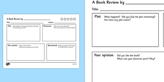 Persuasive Writing Primary Resources, handwriting - Page 1 - printable book review template