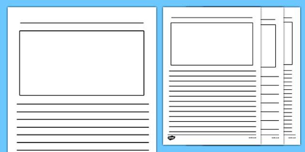 Blank Writing Frames Blank Writing Frames Writing Template