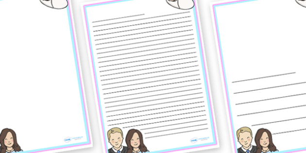 Congratulations Kate and Will Letter Writing Templates - writing - letter writing template