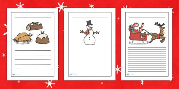 Christmas Writing Frames - christmas, writing frames, themed - christmas checklist template