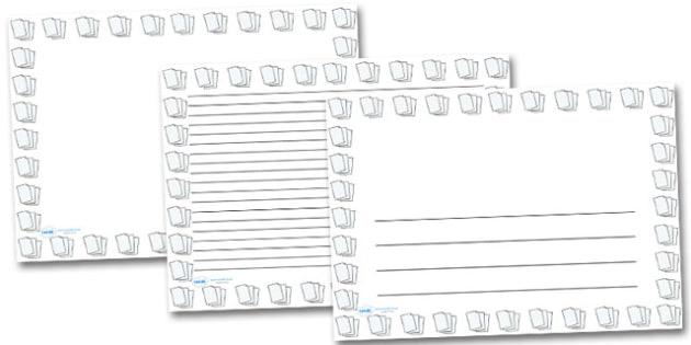 Lined Paper Landscape Page Borders- Landscape Page Borders - lined page