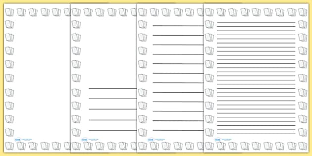Lined Paper Portrait Page Borders- Portrait Page Borders - Page - lined border paper