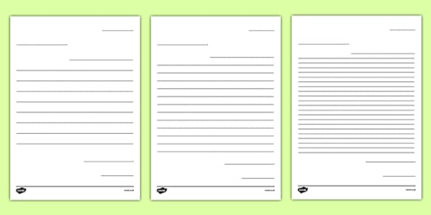 Letter to Future Teacher Writing Template Worksheet - New - letter writing template