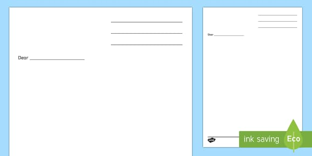 Letter Writing Template - Blank letter templates, letter, letter - letter writing template
