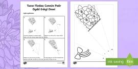 Daffodil Colouring Sheet Welsh Daffodil Colouring