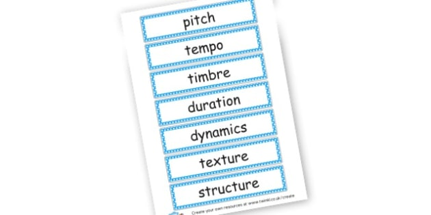Music Vocab Flashcards - Music Literacy Primary Resources - vocab cards