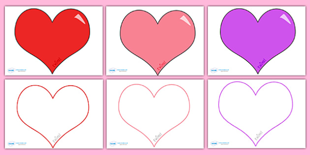 FREE! - Valentine\u0027s Day Editable Heart Template (Large) - valentine