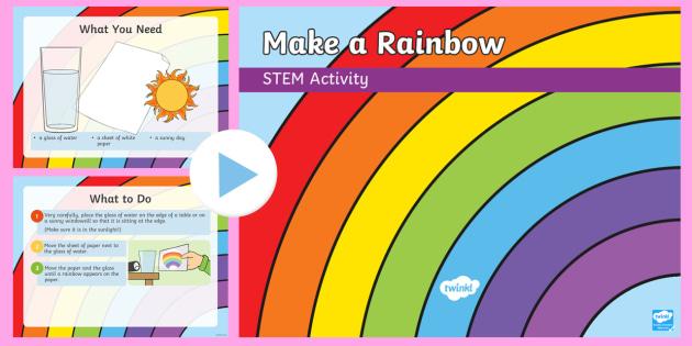 Make a Rainbow PowerPoint - Make it twinkle!, STEM, Light - rainbow powerpoint