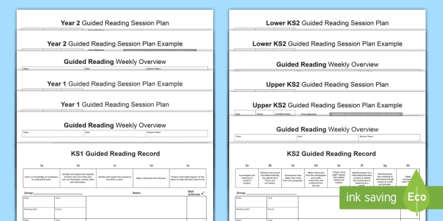 Guided Reading Planning Templates - guided reading, reading - sample guided reading lesson plan template