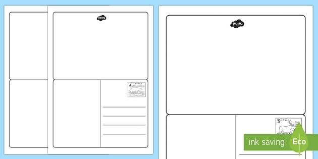 Postcard Writing Template - postcard, writing, write, template, post