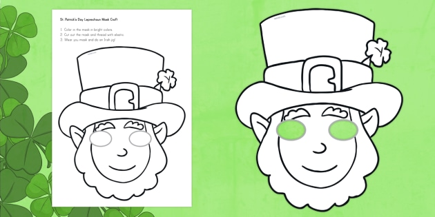 Leprechaun Mask Template Erieairfair