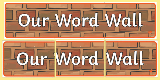 Word Wall Primary Resources