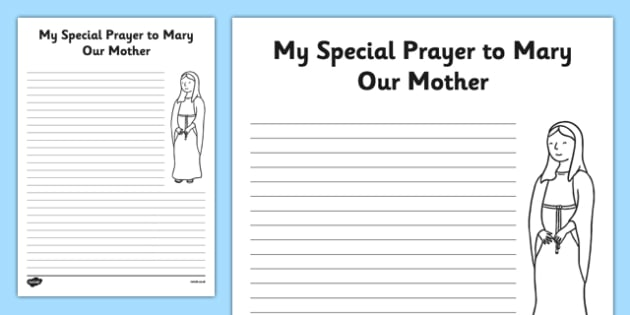Prayer Template My Prayer to Mary Our Mother - Mary, Our Lady, May
