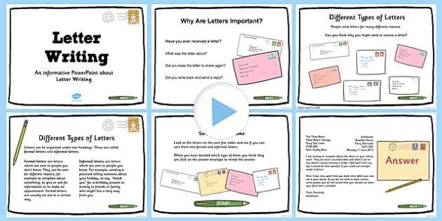 Types of Letters PowerPoint - types, letters, powerpoint, presentation