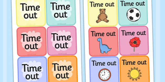 FREE! - Time Out Cards - SEN, Time out, Calm, behaviour management