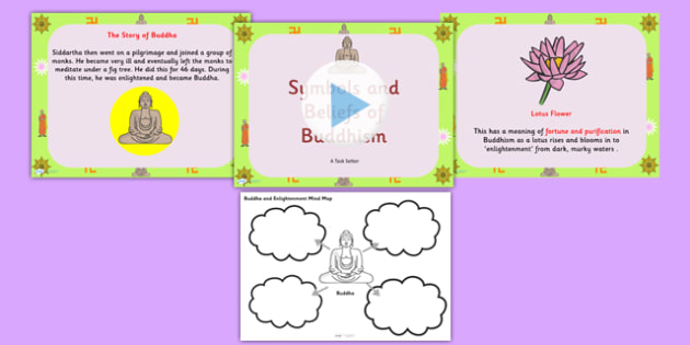 Buddhism Information PowerPoint and Mindmap Pack - buddhism - buddhism powerpoint