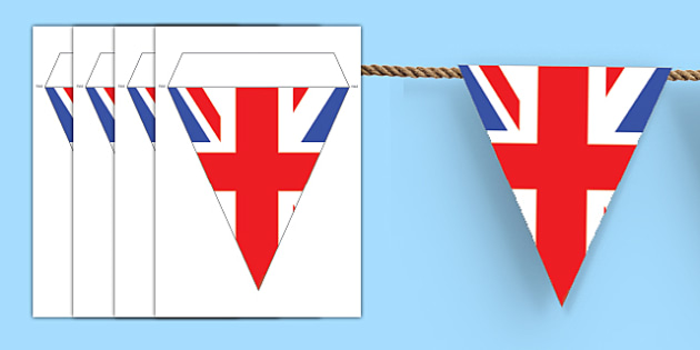 Make Your Own Union Flag Bunting - Union Jack, Bunting Great Britain