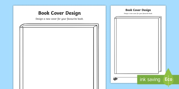 Design a Book Cover Worksheet - world book day, illustrator, author