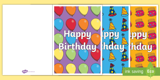 Birthday Card Writing Template - Blank editable card templates - template for a birthday card