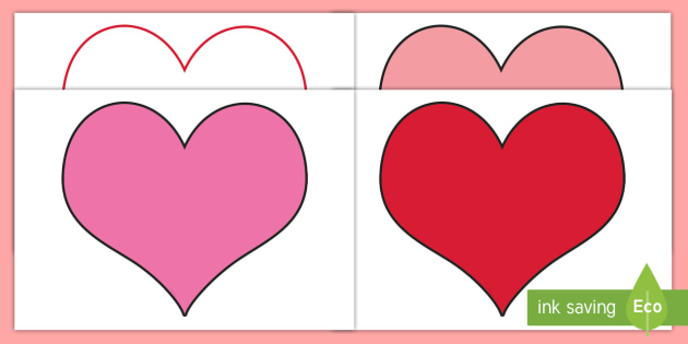 FREE! - Valentine\u0027s Day Editable Heart Template - Valentine\u0027s Day