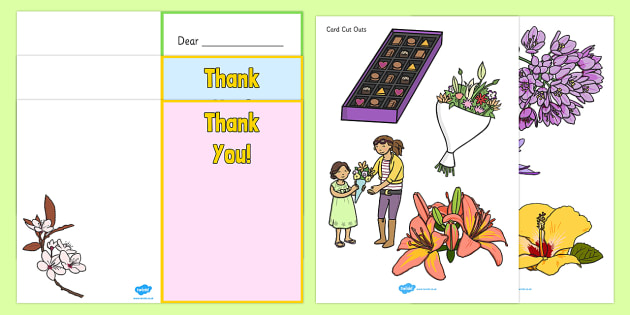 Make Your Own Thank You Card - make your own thank you card