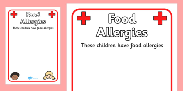 Pupil Food Allergies Information Poster - food, allergy, allergy - allergy list template