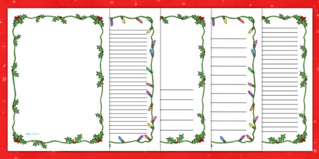 FREE! - Christmas Themed Page Borders - christmas, page border, borders